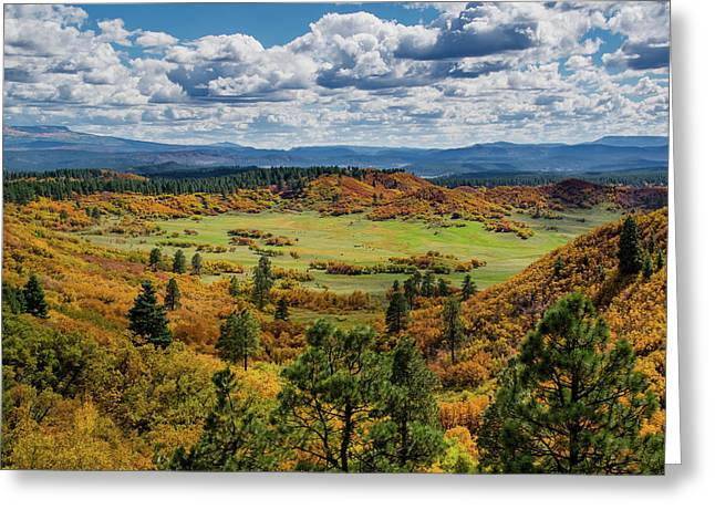 Greeting Card featuring the photograph Four Mile Road Peak Color by Jason Coward