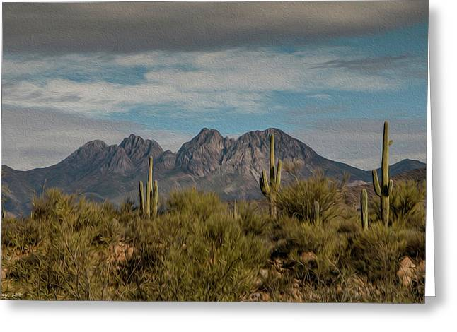 Four Peaks Painterly Greeting Card
