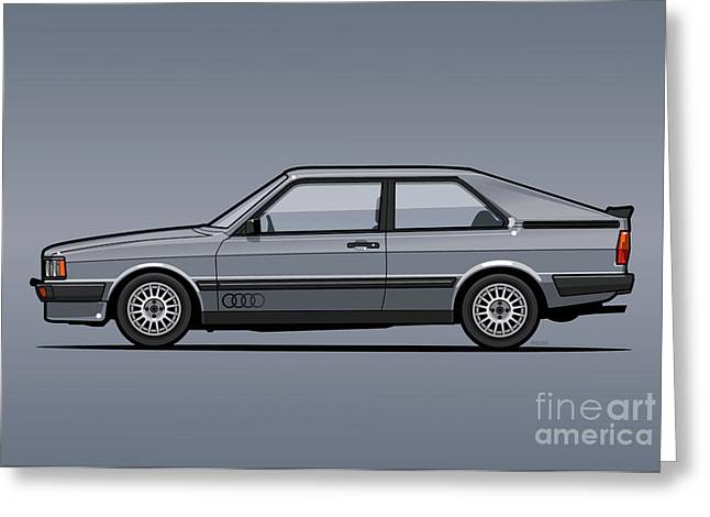 Four Rings Coupe Gt B2 Stone Grey Metallic Greeting Card