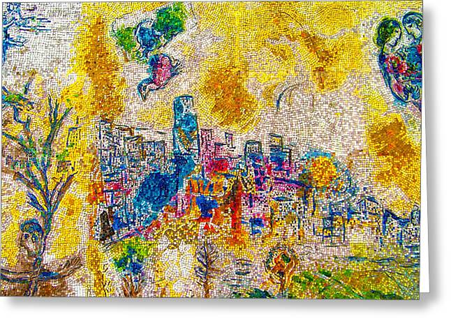 Four Seasons Chagall Greeting Card
