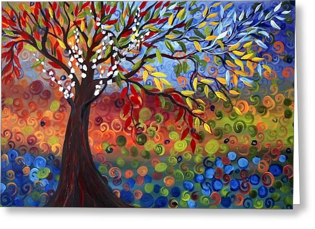 Four Seasons Greeting Card by Luiza Vizoli