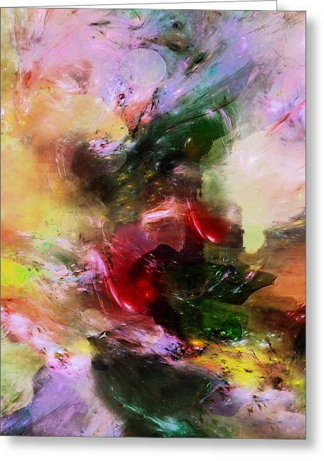 Four Seasons Mood Abstract Greeting Card by Georgiana Romanovna