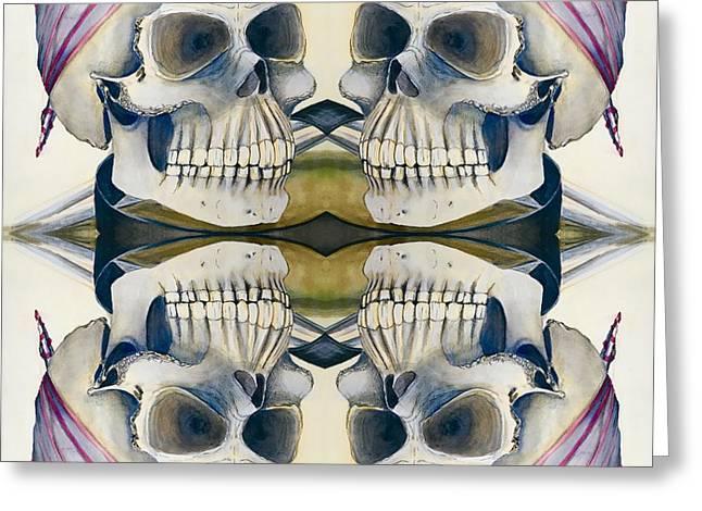 Four Skulls Greeting Card