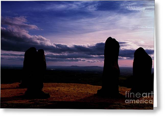Four Stones Clent Hills Greeting Card