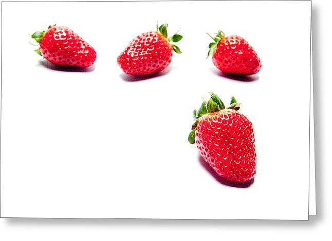 Four Strawberries Greeting Card