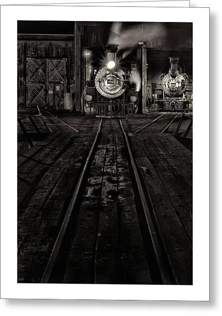 Greeting Card featuring the photograph Foureightytwo B And W Version by Jeffrey Jensen