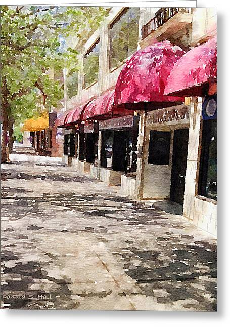 Fourth Avenue Greeting Card by Donald S Hall