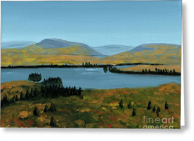 Fourth Lake From Rondaxe In Autumn Greeting Card by Robert Coppen