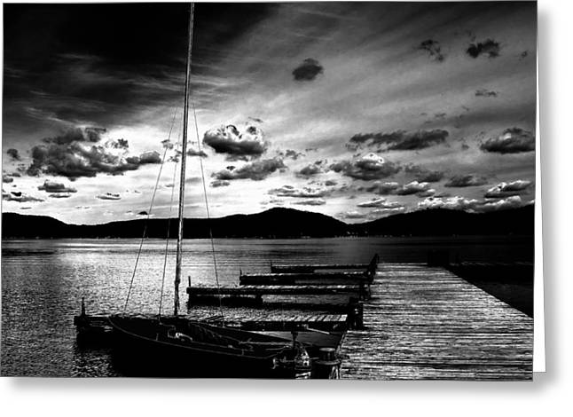 Fourth Lake Sunset Greeting Card by David Patterson