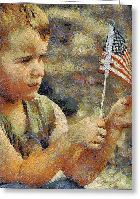 Fourth Of July Greeting Card by Elaine Frink