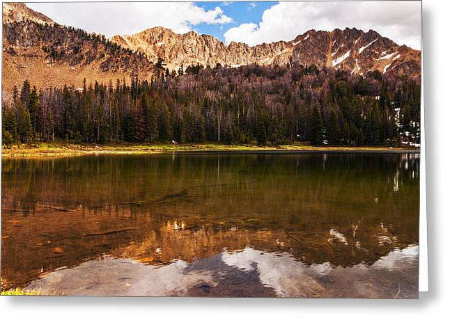 Fourth Of July Lake In White Clouds Wilderness In Idaho Greeting Card