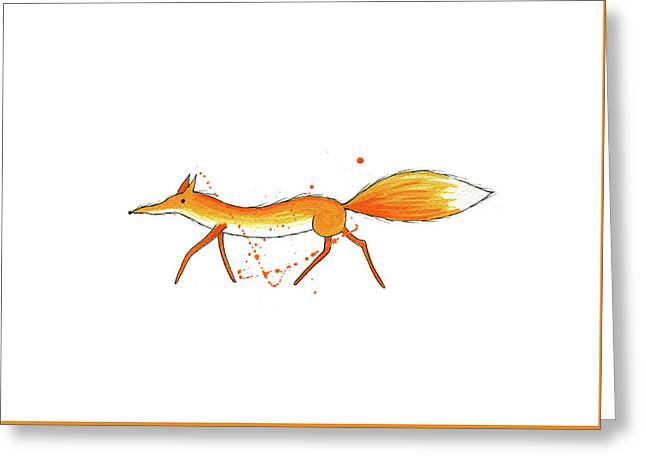 Fox  Greeting Card by Andrew Hitchen