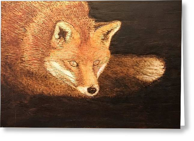 Fox Greeting Card by Dominic Abela