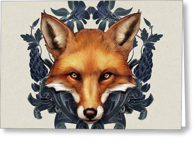 Fox Embellished Greeting Card