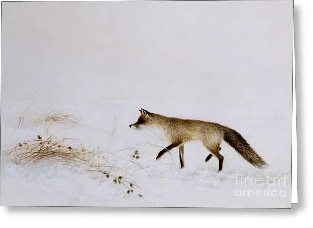 Fox In Snow Greeting Card