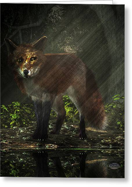 Fox In The Deep Forest Greeting Card