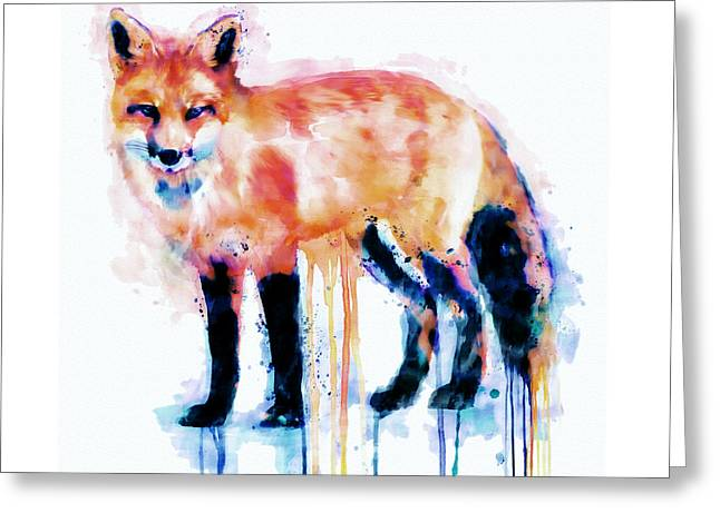 Fox  Greeting Card by Marian Voicu