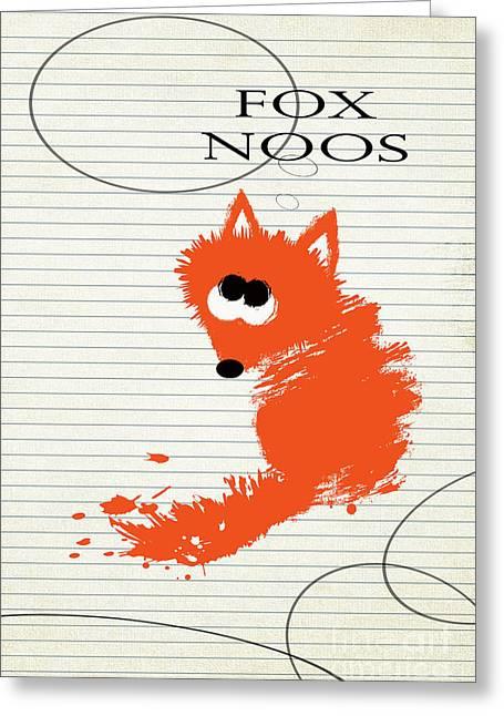 Fox Noos Greeting Card