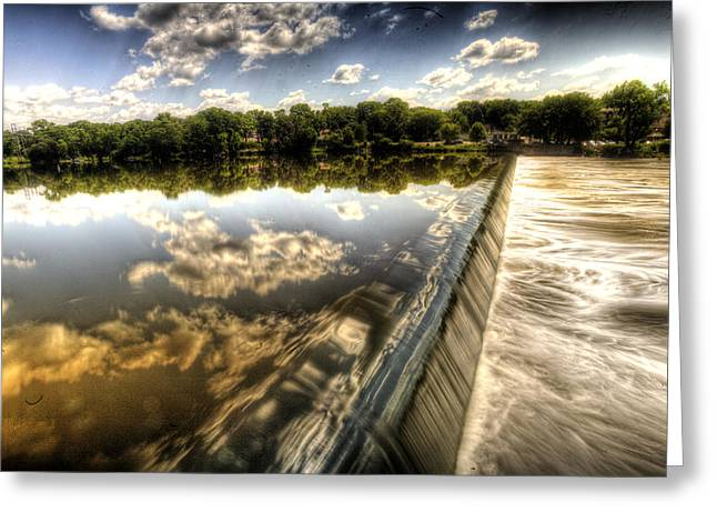 Fox River At The Geneva Dam Greeting Card