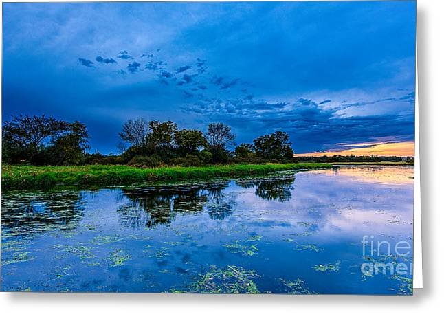 Fox River Solitude Greeting Card by Andrew Slater