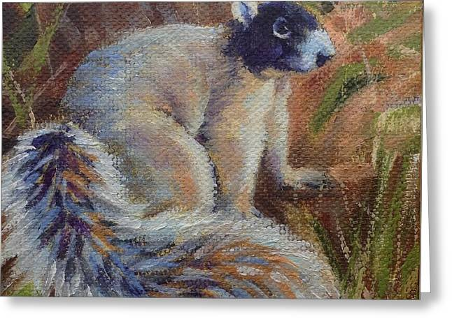 Fox Squirrel Greeting Card by Pam Talley