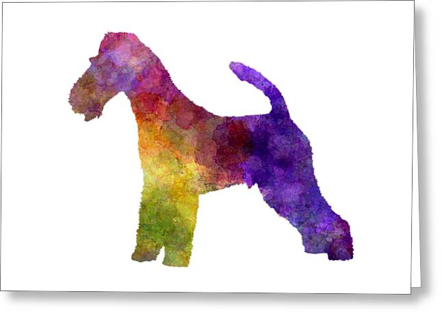 Fox Terrier In Watercolor Greeting Card by Pablo Romero
