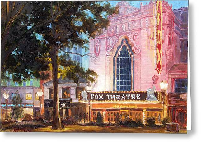 Fox Theatre In St.louis Greeting Card