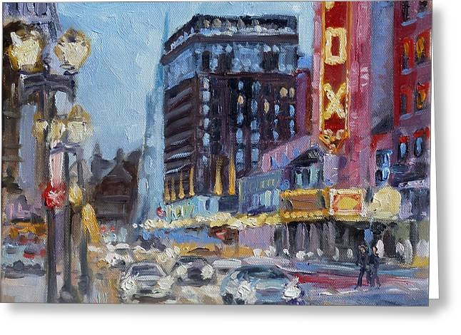Fox Theatre On Grand Boulevard St.louis Greeting Card