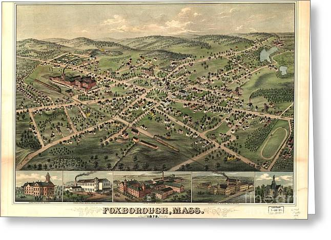 Foxborough, Mass. 1879 Greeting Card