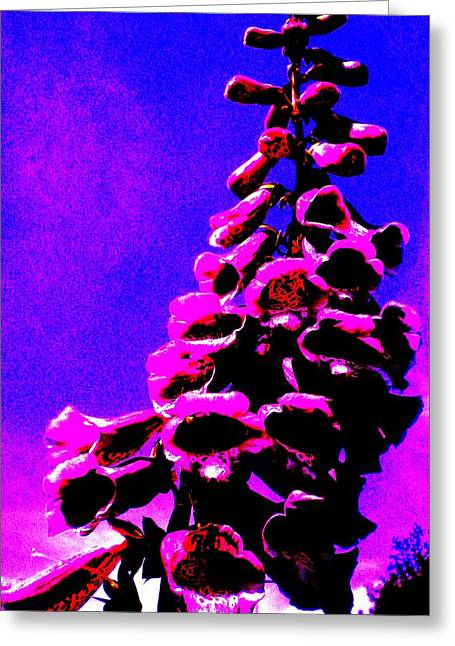 Greeting Card featuring the painting Foxglove by Renate Nadi Wesley