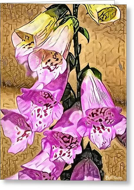 Foxglove Watercolor Greeting Card