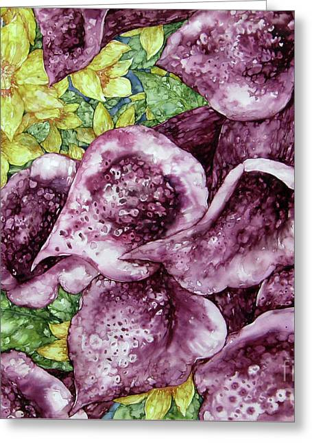 Foxgloves Greeting Card by Kim Tran