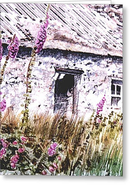 Foxgloves On Anglesey Greeting Card by Alwyn Dempster Jones