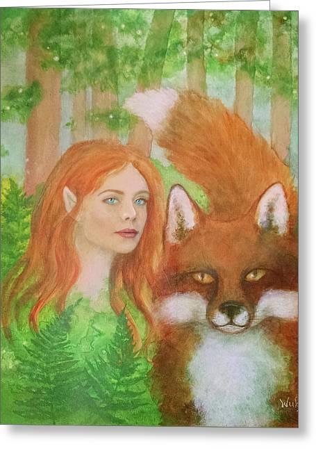 Foxy Faery Greeting Card
