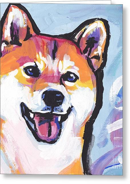 Foxy Shiba Greeting Card by Lea S