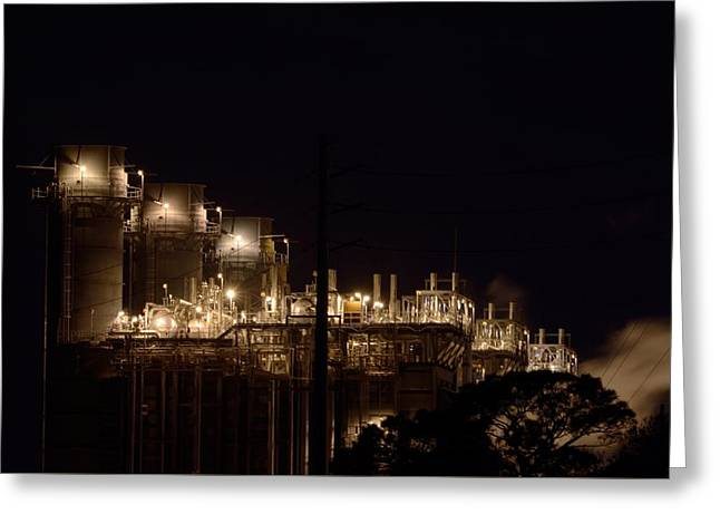 Greeting Card featuring the photograph Fpl Natural Gas Power Plant  by Bradford Martin
