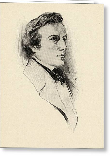 Fr D Ric Fran Ois Chopin, 1810-1849 Greeting Card by Vintage Design Pics