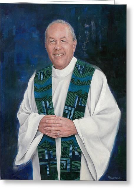 Fr. Larry Olszewski Greeting Card by Richard Barone
