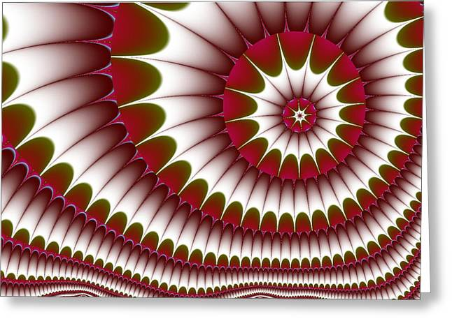 Greeting Card featuring the digital art Fractal 634 by Charmaine Zoe