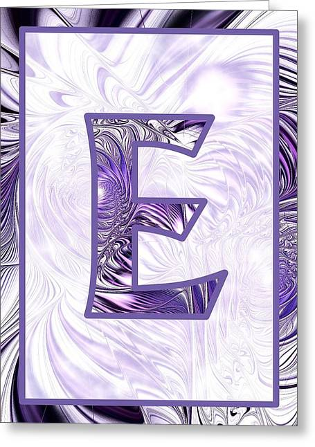 Fractal - Alphabet - E Is For Elegance Greeting Card