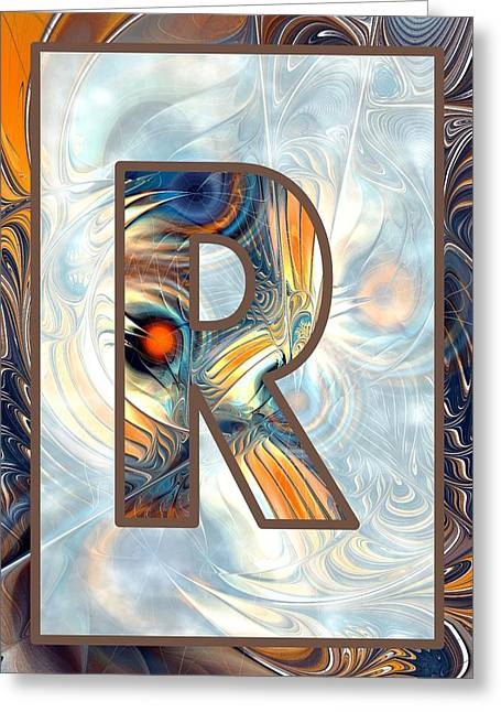 Fractal - Alphabet - R Is For Randomness Greeting Card