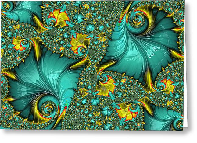 Fractal Art - Gifts From The Sea By H H Photography Of Florida Greeting Card by HH Photography of Florida