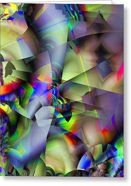 Fractal Cubism Greeting Card
