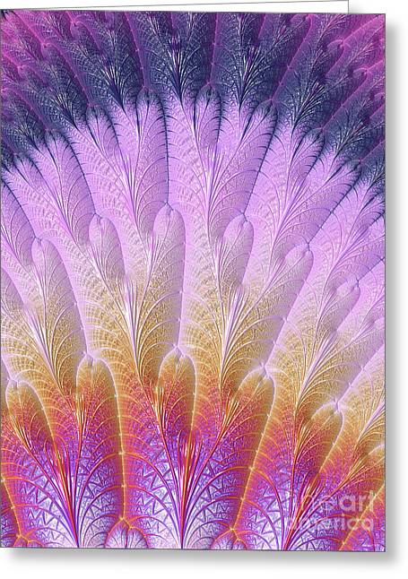 Fractal Feather Fan Greeting Card