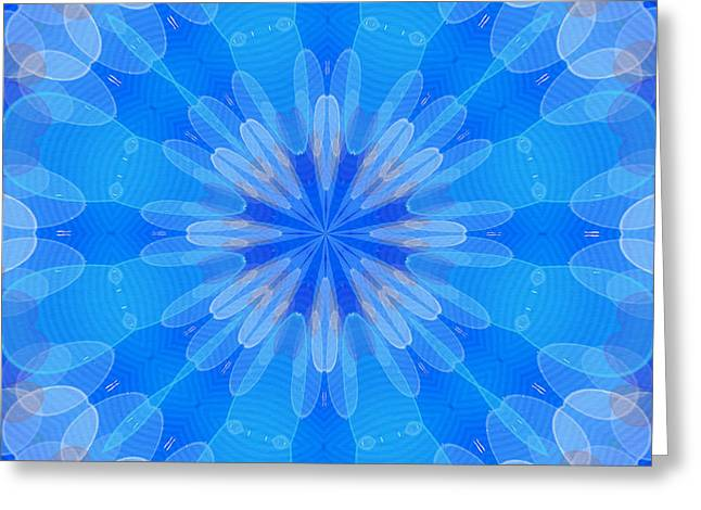 Fractal Flower 6 Greeting Card by Lanjee Chee