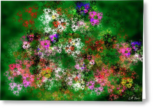 Fractal Garden Greeting Card by Michael Durst