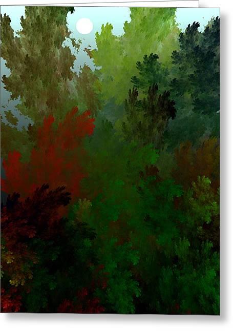 Fractal Landscape 11-21-09 Greeting Card by David Lane