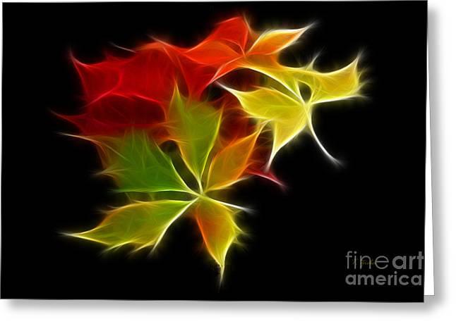 Fractal Leaves Greeting Card
