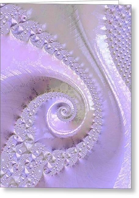 Fractal Of Pearl Greeting Card by Susan Maxwell Schmidt