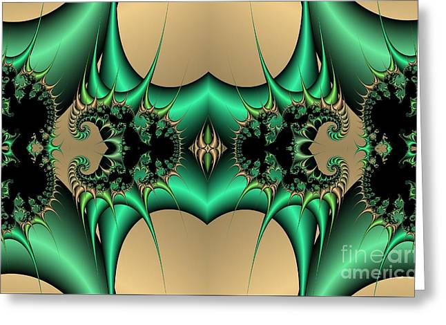 Fractal Pattern Greeting Card by Tony Craddock